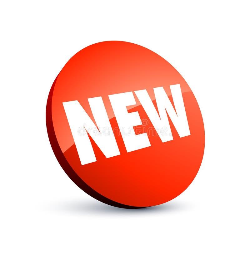 Neuer roter Kennsatz lizenzfreie abbildung