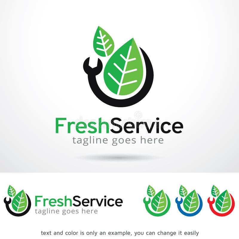 Neuer Service Logo Template Design Vector, Emblem, Konzept des Entwurfes, kreatives Symbol, Ikone vektor abbildung