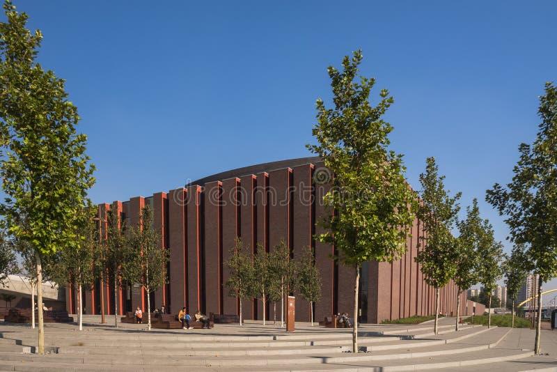 Neuer Sitz des polnischen Sinfonieorchesters des nationalen Radios lizenzfreies stockbild