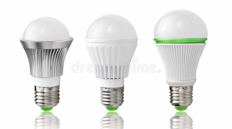 Neuer Typ von LED-Birnen, Entwicklung des Beleuchtungs-, energiesparendem und Umweltschutzes stock abbildung