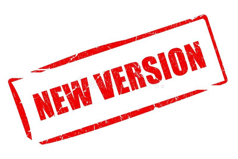 Neuer Versionstempel lizenzfreie abbildung
