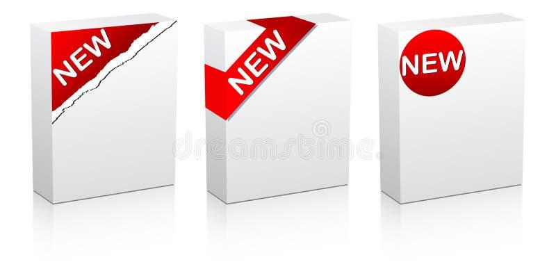 Neuer weißer Kasten vektor abbildung