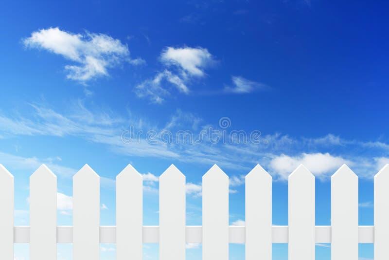 Neuer weißer Zaun vektor abbildung