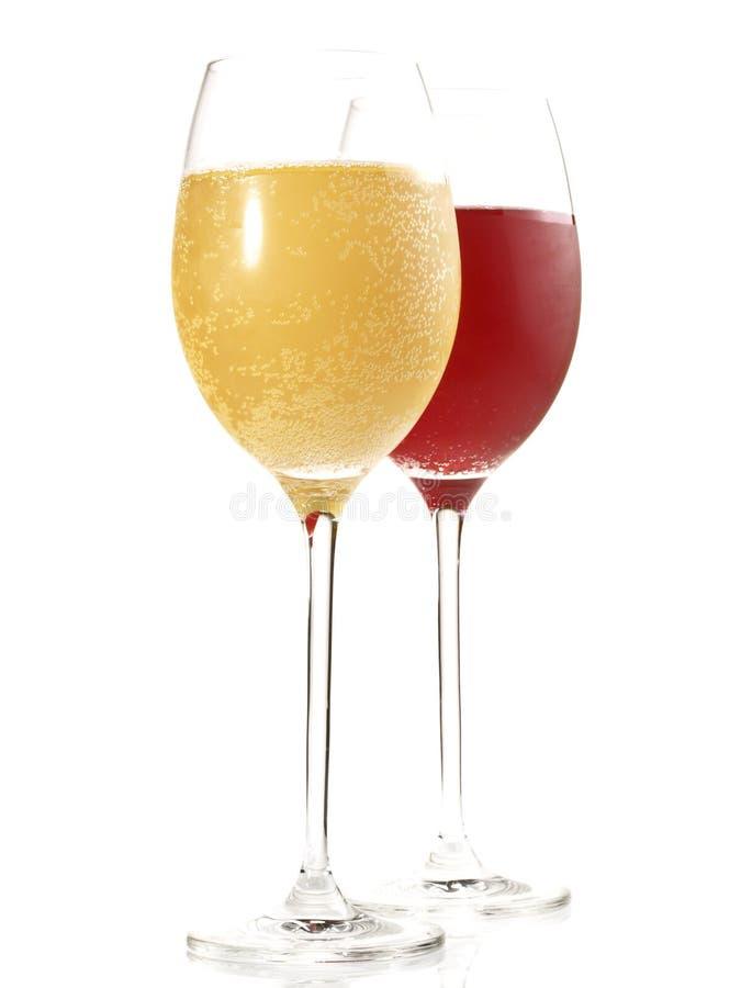 Neuer Wein auf weißem Hintergrund stockfotografie