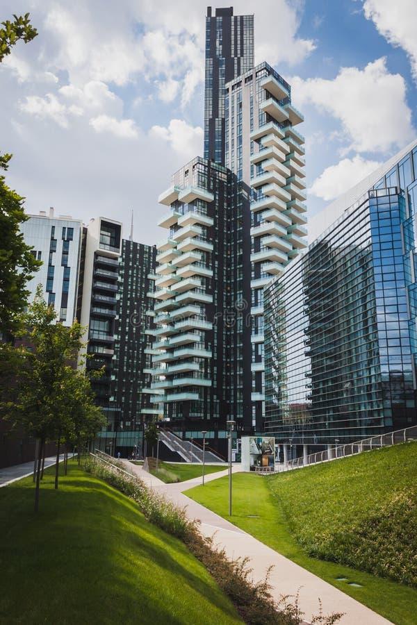 Neuer Wolkenkratzer bei Porta Nuova in Mailand, Italien stockfoto