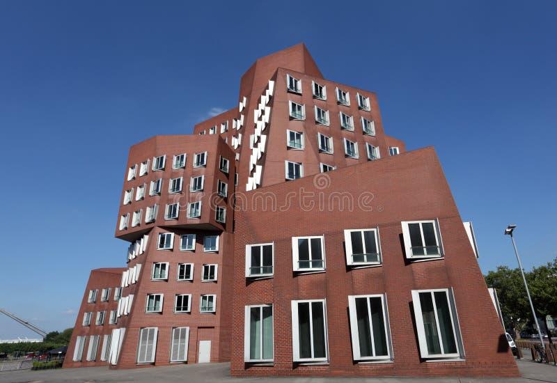 Neuer Zollhof大厦在杜塞尔多夫 免版税库存图片
