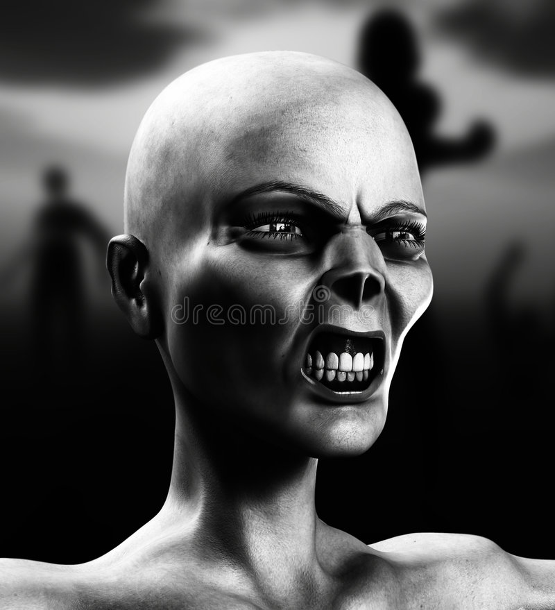Neuer Zombie 51 lizenzfreie abbildung