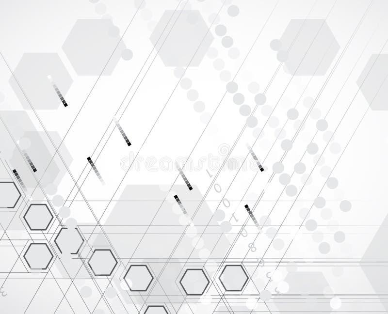 Neuer zukünftiger Technologiekonzept-Zusammenfassungshintergrund stock abbildung