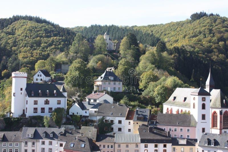Neuerburg i Eifelen royaltyfria bilder