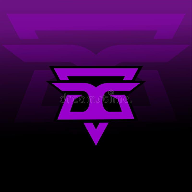 Neueres Logospiel GG lizenzfreie abbildung