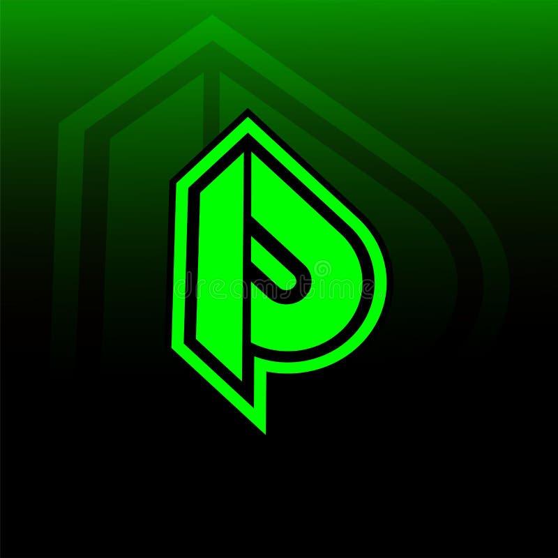 Neueres Logospiel P stock abbildung