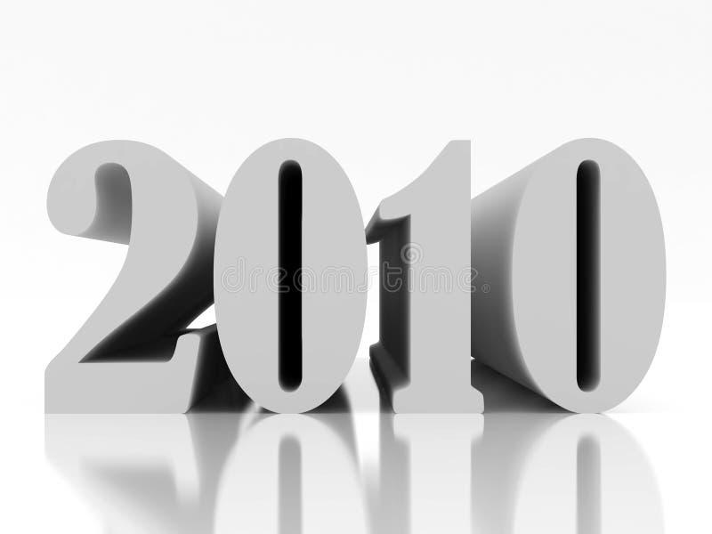 Neues 2010 Jahr vier vektor abbildung