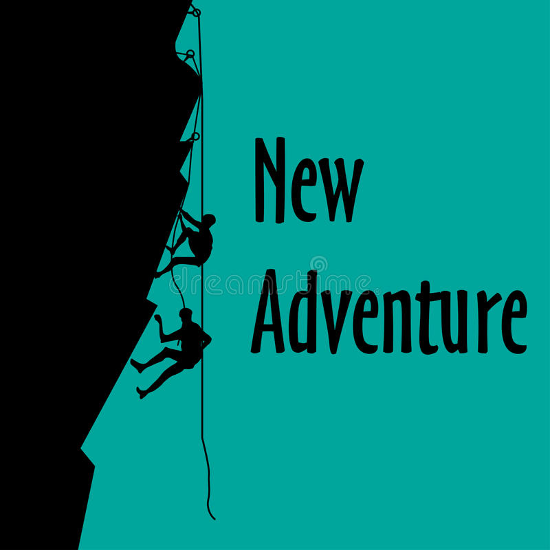 Neues Abenteuer stock abbildung