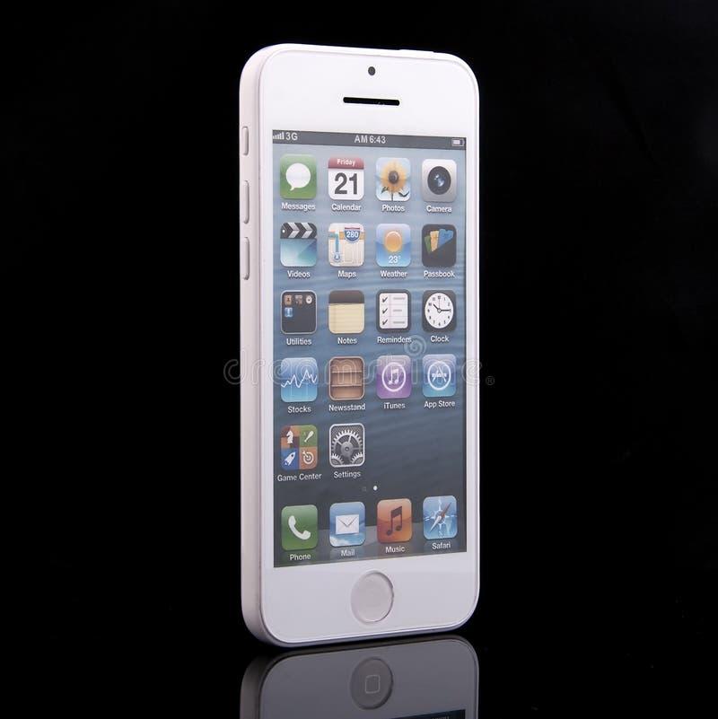 Neues Apple-iPhone 5C stockbild