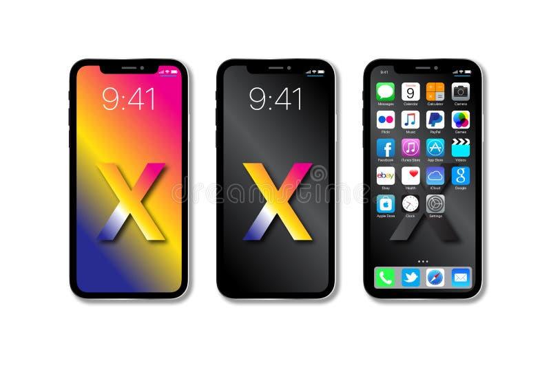 Neues Apple IPhone X lizenzfreie abbildung