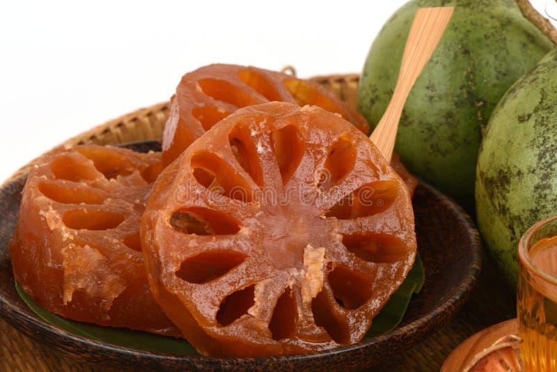 Neues bael und Süßigkeit bael, Frucht von Thailand stockbild