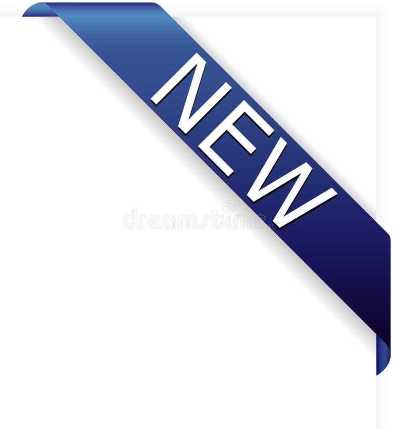 Neues blaues Eckfarbband stock abbildung