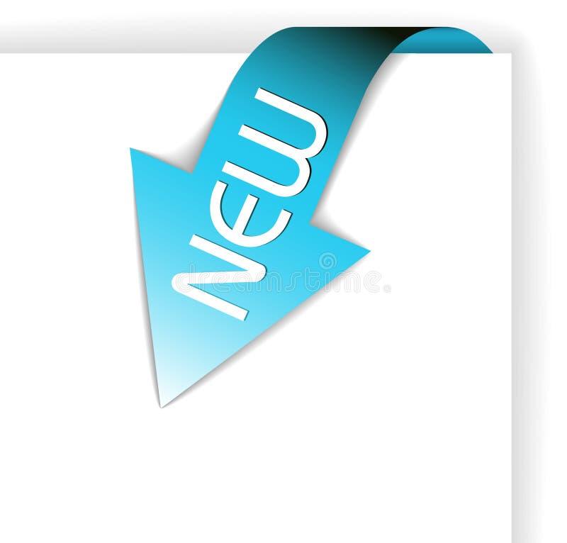 Neues blaues Eckfarbband lizenzfreie abbildung