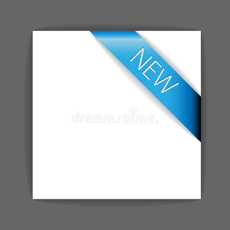 Neues blaues Eckfarbband vektor abbildung