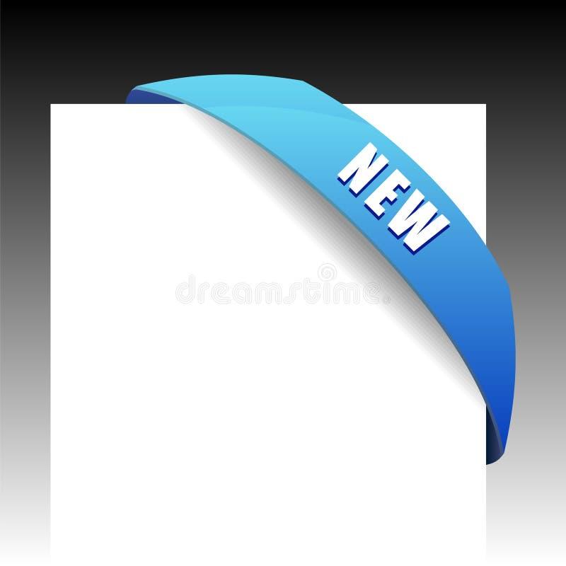 Neues blaues Eckgeschäftsfarbband stock abbildung