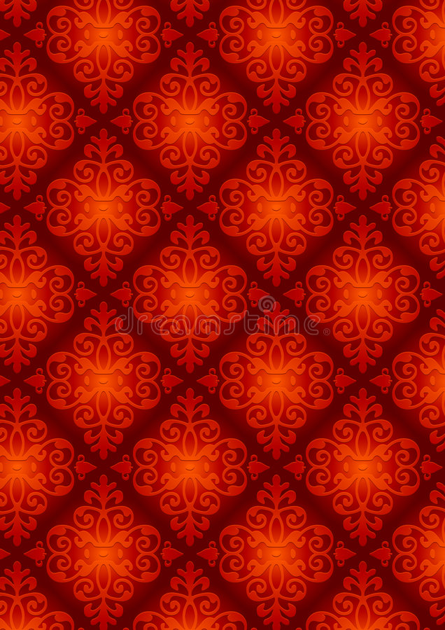 Neues Damast-Art-Muster vektor abbildung