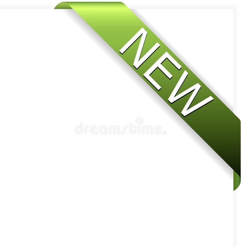 Neues Eckfarbband des gelben Grüns lizenzfreie abbildung