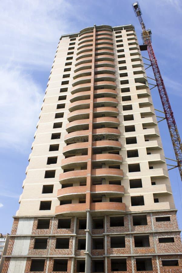 Neues Gebäude unter Construction2 stockfoto
