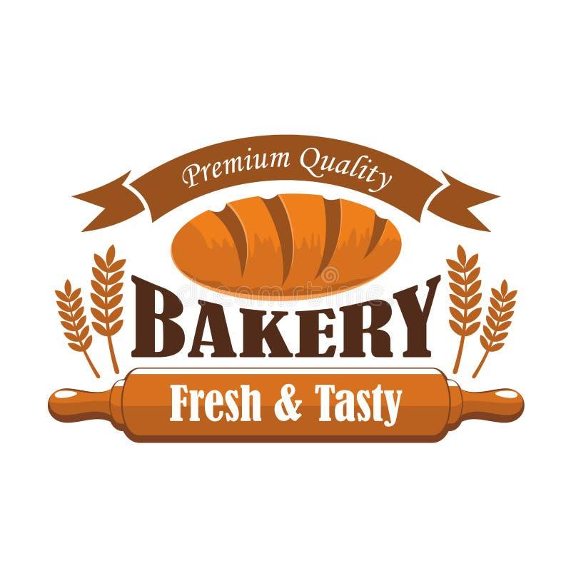 Neues geschmackvolles Bäckereiprodukt-Prämiengütezeichen lizenzfreie abbildung