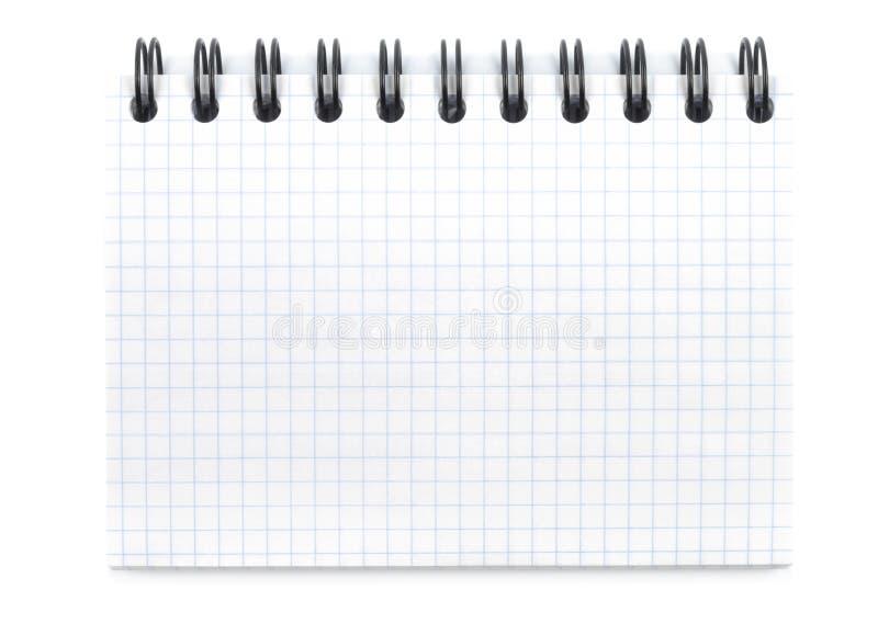 Neues gewundenes Notizbuch stockbilder