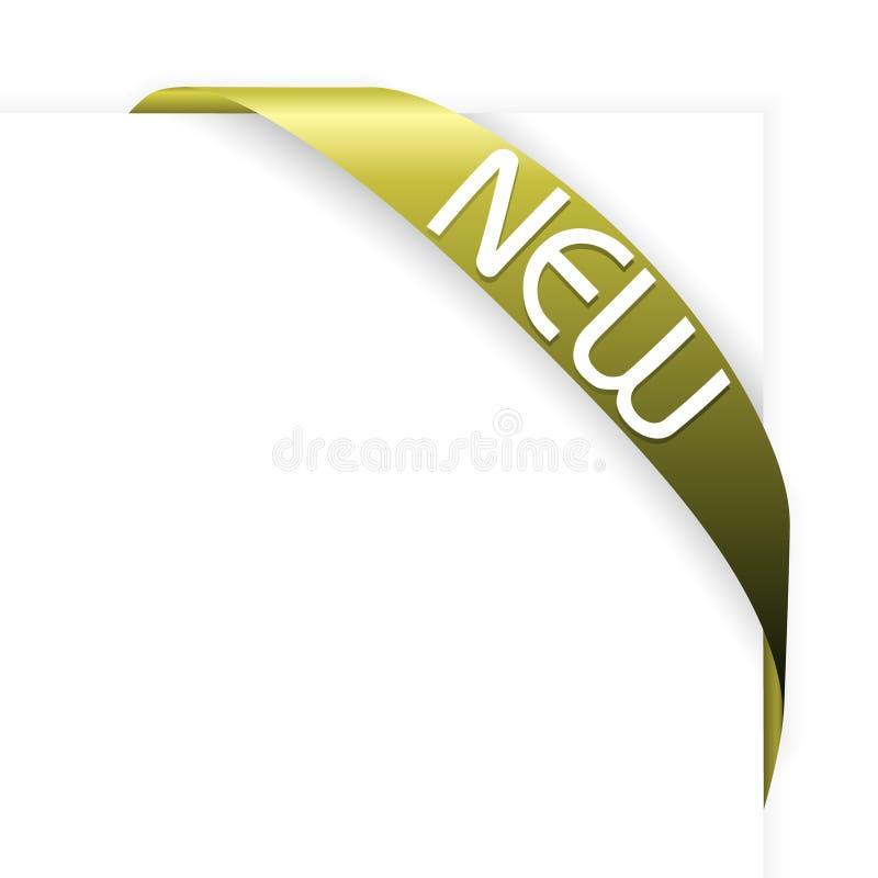 Neues grünes (olivgrünes) Eckfarbband lizenzfreie abbildung