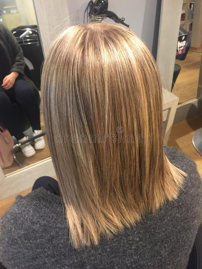 Neues haircolor lizenzfreie stockfotografie