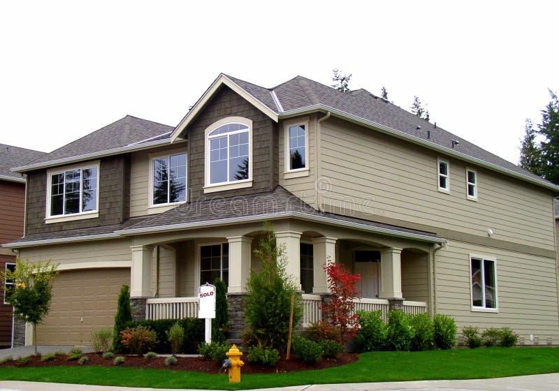 Neues Haus stockbild
