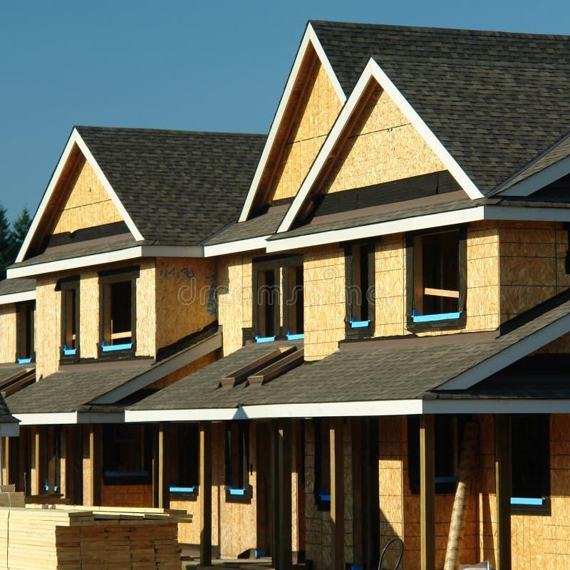 Neues Haus-Aufbau lizenzfreie stockbilder