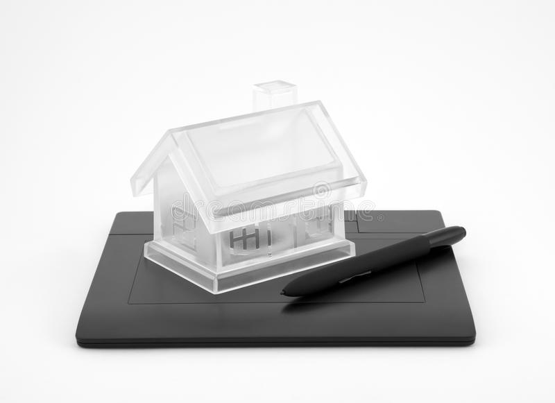 Neues Haus der Auslegung stockfoto