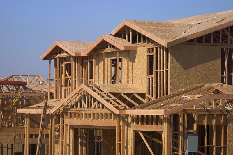 Neues Haus und Haus stockfotografie