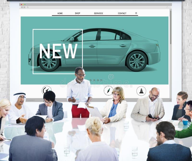 Neues Innovations-Technologie-Auto-homepage-Konzept lizenzfreie stockfotografie