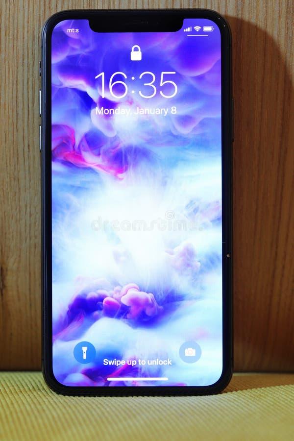 Neues Iphone X oder zehn lizenzfreies stockfoto