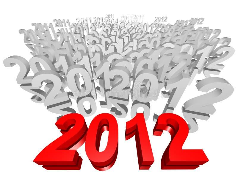 Neues Jahr 2012 lizenzfreie stockbilder