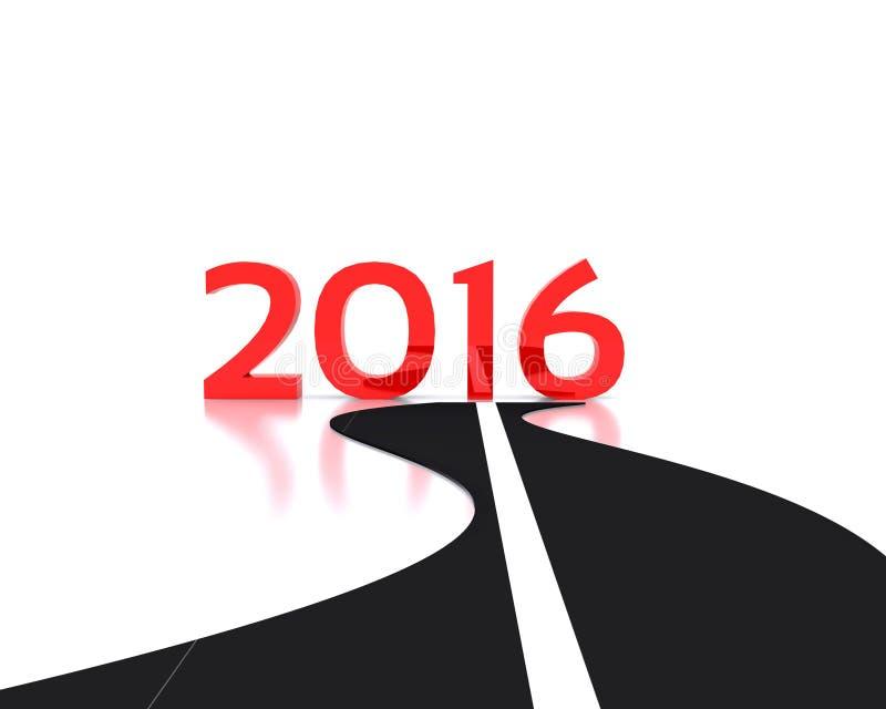 Neues Jahr 2016 lizenzfreie abbildung