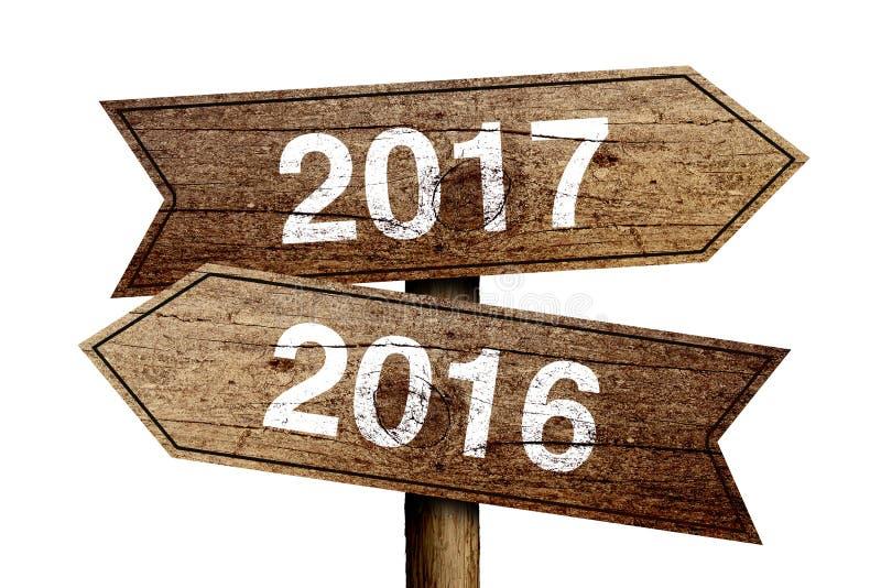 Neues Jahr 2017 stockfoto