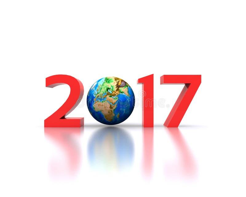 Neues Jahr 2017 lizenzfreie abbildung