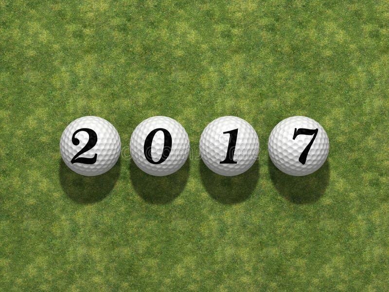 2017 neues Jahr stock abbildung