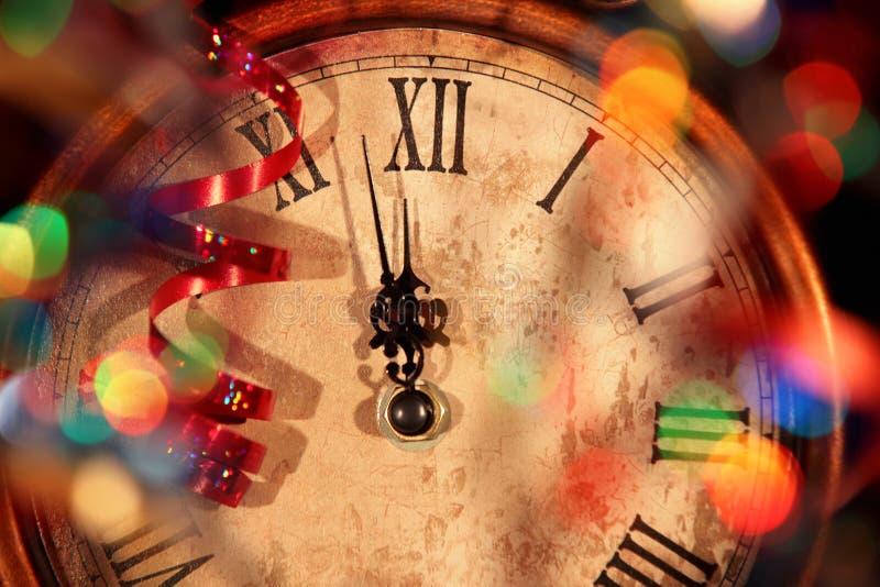 Neues Jahr-Borduhr lizenzfreie stockbilder