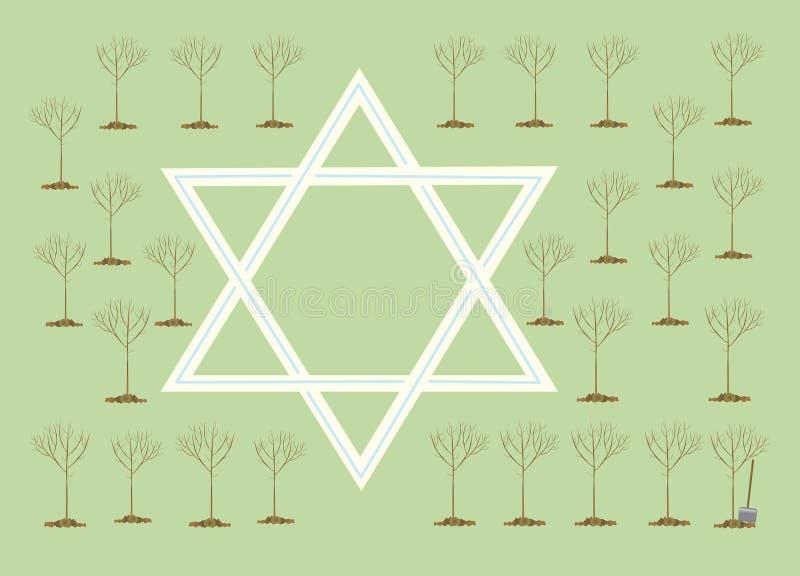 Neues Jahr der Bäume oder des Tu Bi-Shvat stock abbildung