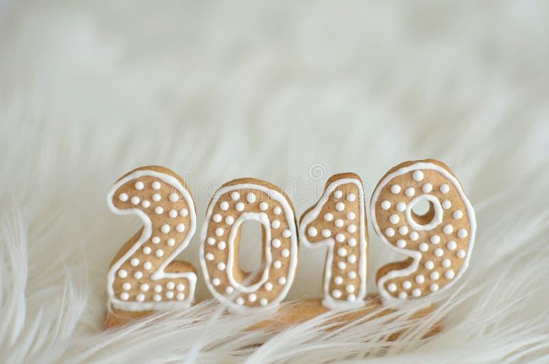 Neues Jahr 2019 Der neue Weg Neuer Anfang Neues Jahr ` s Eve Feiner weißer Hintergrund stockbild