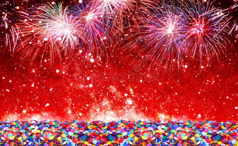 Neues Jahr des Hintergrundes lizenzfreie stockfotos