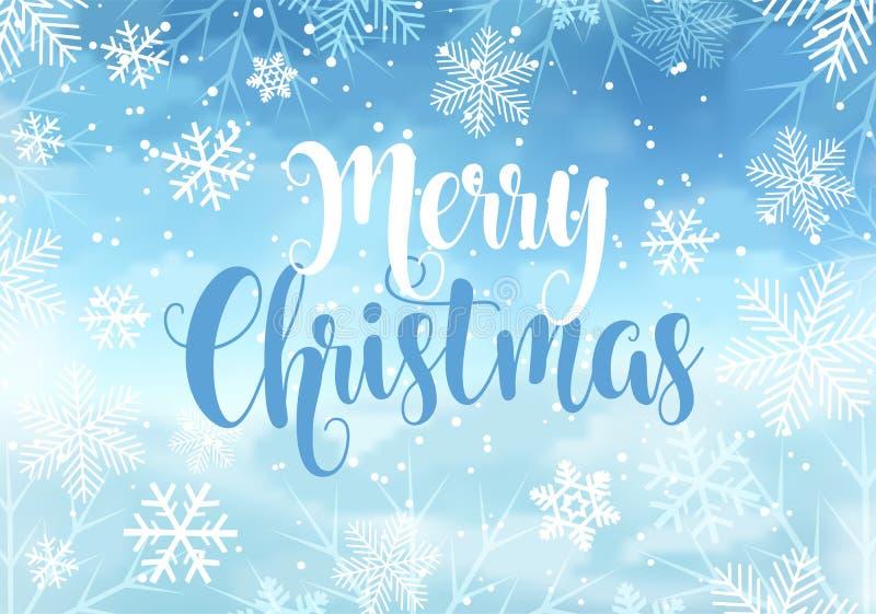2019-neues Jahr-/froher Weihnacht3d Winterschablone stock abbildung