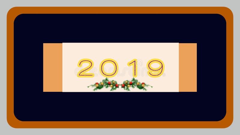 Neues Jahr-Karten-Auslegung lizenzfreie abbildung
