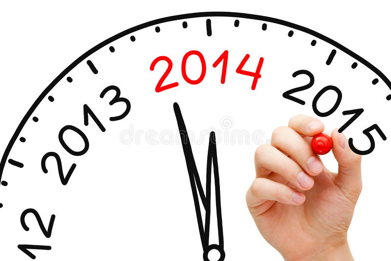 Neues Jahr-Konzept 2014 lizenzfreies stockbild