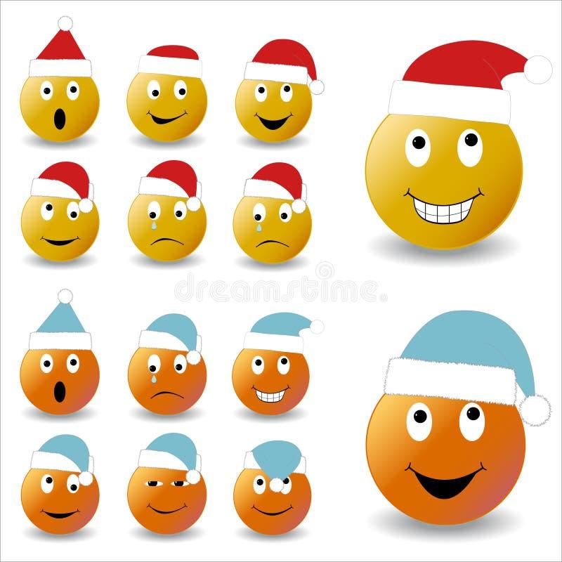 Neues Jahr Lächeln stock abbildung